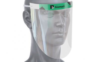 Branded face shields
