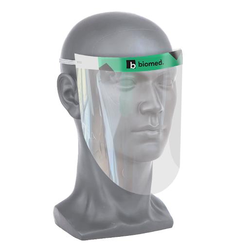 Branded face shields